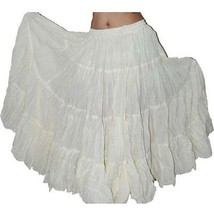 Improvisational Tribal Style Belly Dance Cotton Skirt - $28.94