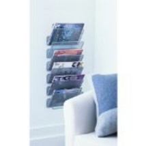 Design Ideas Wall Works Magazine Rack, Large, Silver - $52.99