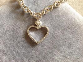 New Allure Studded Heart Charm Bracelet Silver Toned image 2