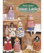 Holiday Tissue Ladies, Plastic Canvas Doll Clothes Pattern Booklet TNS 943399 - $7.95