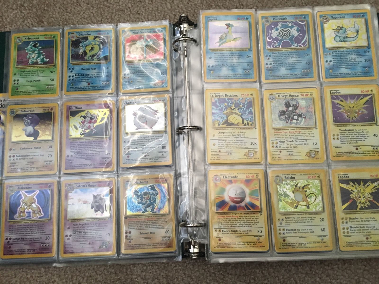 50x HUGE ALL ORIGINAL WOTC Pokemon Card LOT BULK COMMON/UNC + HOLO and 3 RARE