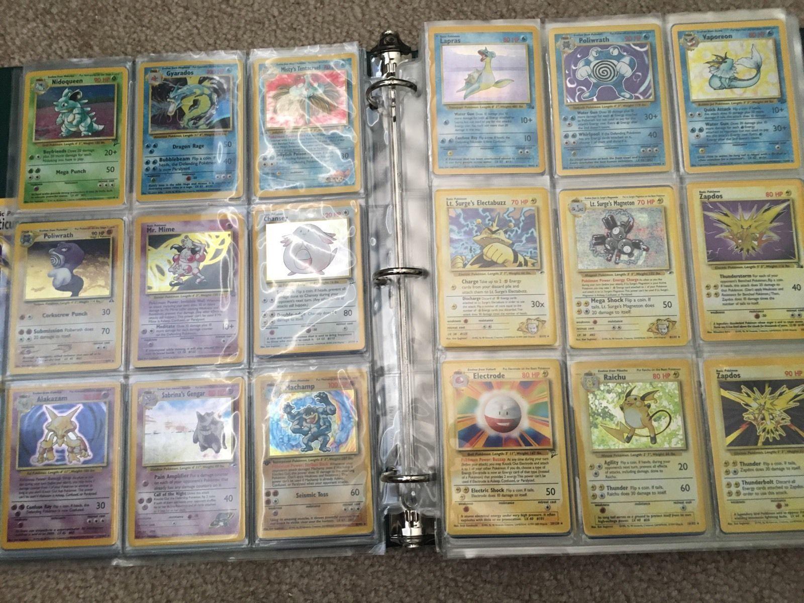50x HUGE ALL ORIGINAL WOTC Pokemon Card LOT BULK COMMON/UNC + HOLO and 3 RARE