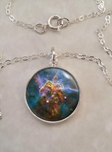 Sterling Silver 925 Pendant Necklace Eagle Nebula Astronomy Space Science - £22.80 GBP+
