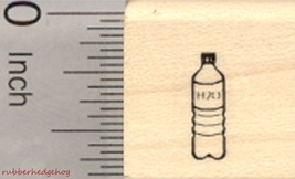 Tiny Water Bottle Rubber Stamp, .5 inch tall, M... - $8.95