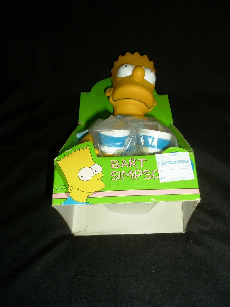 1990 Bart Simpson Toy Doll By DanDee! New In Original Box!
