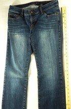 DKNY Women's Jeans Stretch Size 9 Downtown Brooklyn Distressed Dark Denim - $19.99