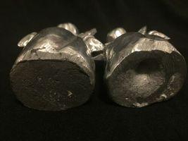 Vintage Pair Silver Tone Metal Cherub Angel Figure Heavy Figurine Decor image 7