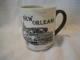 New Orleans Souvenir Mug With Marble Drip Look - $8.99