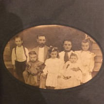 Turn Of The Century Antique Photo Photograph Of Family 8x6 - $9.49