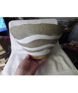 1970s Vintage ART POTTERY BOWL Grey White Stoneware Artisan Studio Hand ... - $85.00