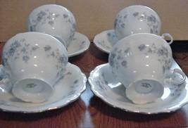 Johann Haviland Blue Garland China set of 4 cups & saucers - $24.70