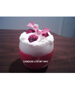 strawberry scented soy wax candle - $11.95