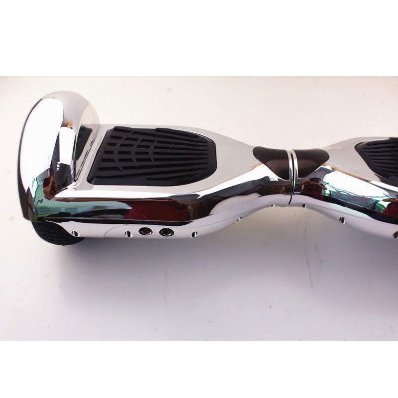 Rare 2017 Chrome Silver Hoverboard Two Wheel Scooter w/ fast shipping