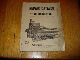 MINNEAPOLIS MOLINE UNI-TRACTOR & UNI-HARVESTOR PARTS MANUAL - $9.89