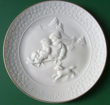 Avon Collectible Porcelain Plate A Child's Christmas 1985, 24K Gold Trim, No Box - $5.99