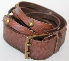 Gap Cow Leather Women's Belt Size Medium Brass Sqaure Buckle - €15,61 EUR