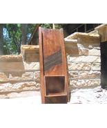 OLD Antique Primitive Wooden Metal Slaw Cutter Cabbage Shredder Board WI... - $259.98