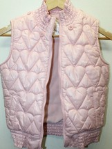 Old Nave Pink Kid Girl Outerwear Puffer Vest Large Lined Detachable Hood... - $8.66