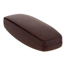 Sunglasses & Eyeglasses Case Wood Color Faux Leather Protective Hardcase image 5