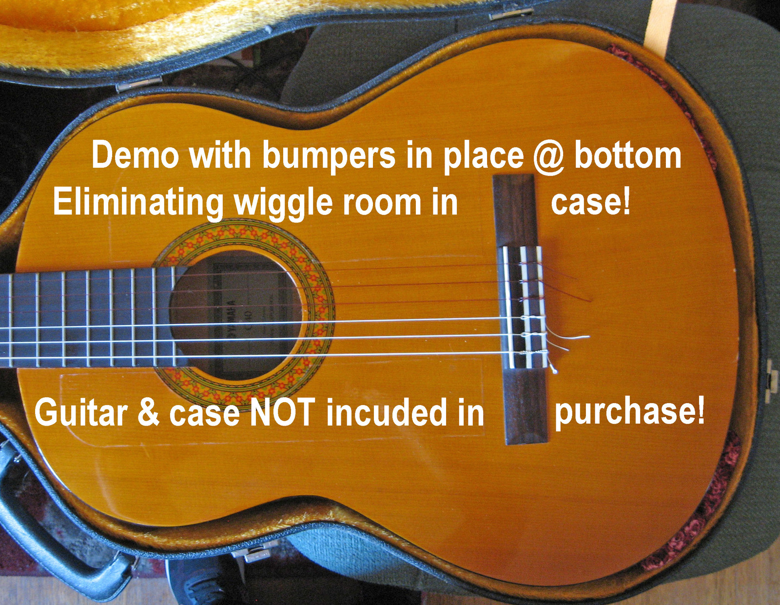 Guitar Case Bumpers/Help Minimize Your Guitar Wiggling Inside It's Case!/Roses