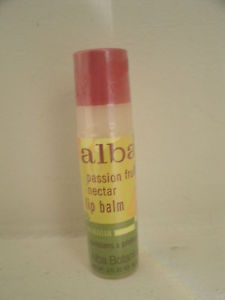 Alba Botanica Lip Balm PASSION FRUIT NECTAR Clear Organic Hawaiian .15oz