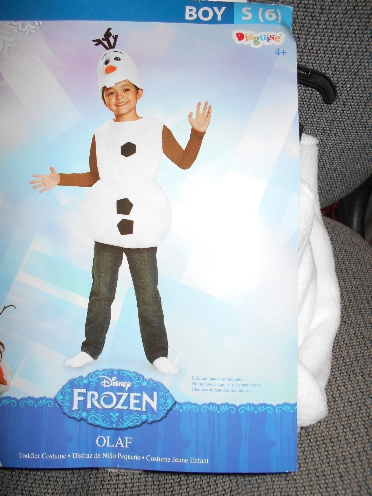NIP DISGUISE BOYS SZ S 6 FROZEN DISNEY OLAF SNOWMAN COSTUME FUN HALLOWEEN