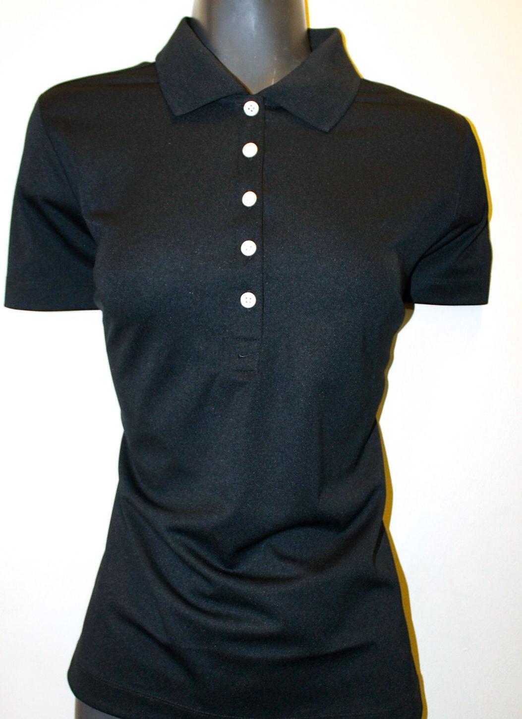 b4e6fea4 S l1600. S l1600. Previous. NWT Nike Golf Tour Performance Shirt Short Sleeve  Ladies Black Dri Fit Medium