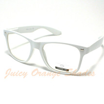 VINTAGE Retro Classic CLEAR LENS Eyeglasses WHITE - £4.93 GBP