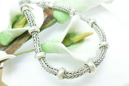 "Artisan Crafted Sterling Silver 7.5"" Tulang Naga Bracelet - $48.00"