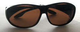 SOLAR SHIELD FITS OVER SUNGLASSES POLARIZED FASHION TORTOISE SZ LARGE - $19.99