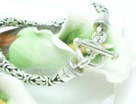 "Artisan Crafted Sterling Silver Borobudur Bracelet 7.5"" - $54.00"