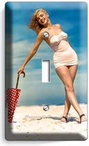 MARILYN MONROE SEXY BEACH BIKINI SINGLE LIGHT SWITCH WALL PLATE COVER AR... - $8.09