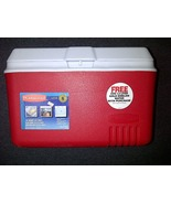Rubbermaid Red Icebox Ice Box Lunch Cooler Chest 34 Quart 8.5 Gallon 32.... - $79.99