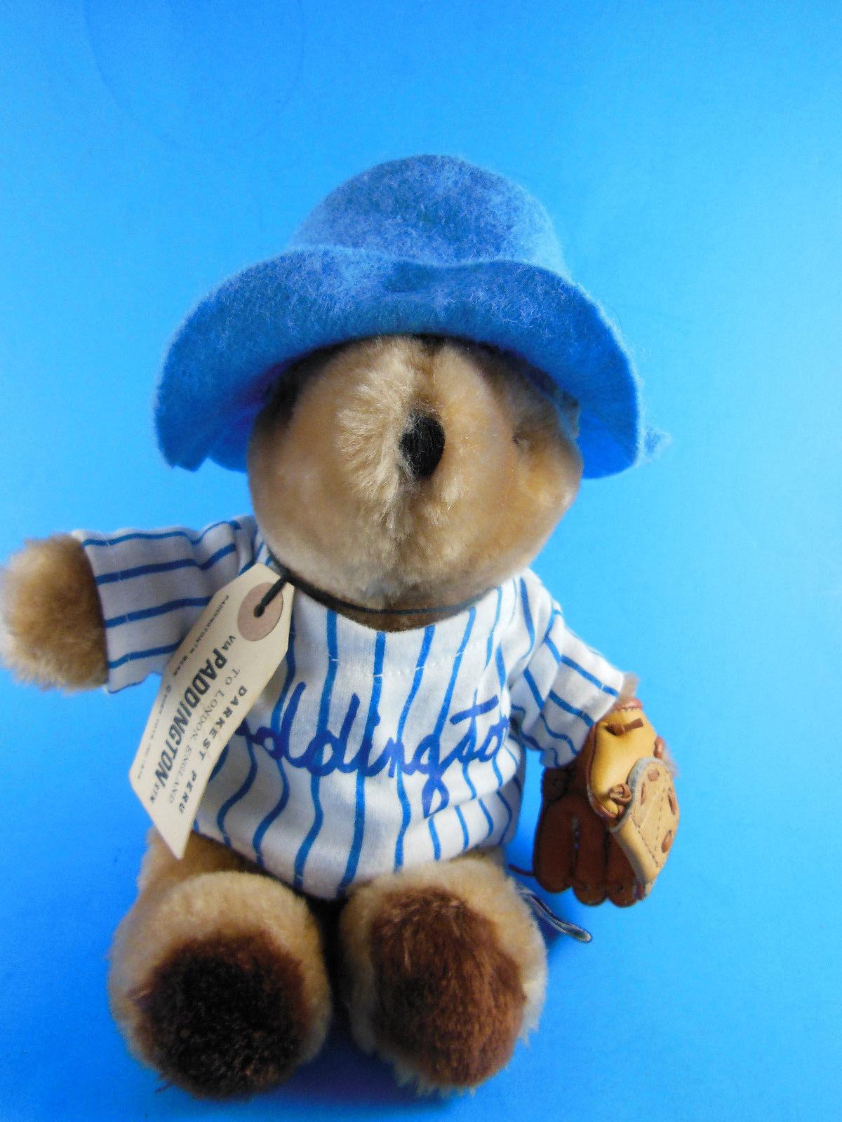 "VINTAGE EDEN MADE IN KOREA PADDINGTON TEDDY BEAR With Catchers Mitt 9"" tall - $12.46"