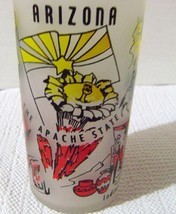 Vintage Hazel Atlas Frosted Arizona  Drinking Glass - $11.00