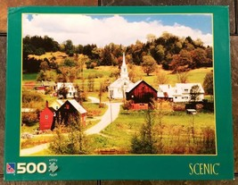"Sure-Lox ""Waits River, Vermont"" 500 Piece Scenic Jigsaw Puzzle - Sealed - $12.86"