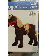 "VINTAGE VOGUE PATTERN 9603 PONY WITH SADDLE 28"" TALL UNUSED AND UNCUT - $40.00"