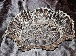 Glass Bowl with Detailed Fruit Etched Design AA18-11910 VintageHeavy image 4