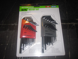 36 Piece SAE & Metric Long Reach Hex Key Set Pi... - $12.75
