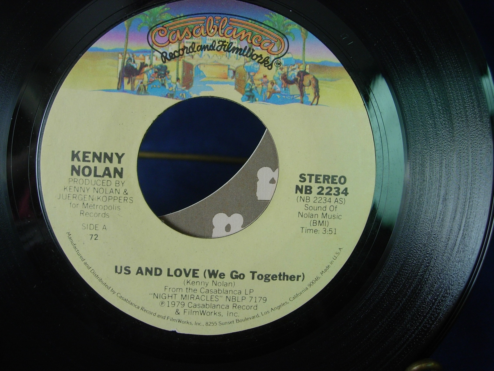 KENNY NOLAN Us and Love / You're So Beautiful Tonight - Casablanca NB2234