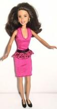 DISNEY HIGH SCHOOL MUSICAL 2 DOLL GABRIELLA DRESS SHOES EARRINGS REDRESSED - $4.94
