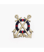 "Anchor Gold 2.6 x 2.9"" Embroidered Vintage Collectible Patch Badge Emblem - $10.79"