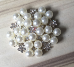 10pcs Pearl Alloy Rhinestone Buttons,Wedding Party Favor,Sewing Clothe B... - $13.80