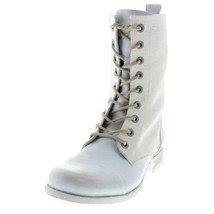 Diesel Womens The Wild Land Arthik Leather Combat Lace-Up Boot White 7 - $72.19