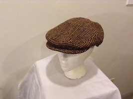 Adorable Used Great Condition Harris Tweed Hand Woven Wool Hat Visor Brown