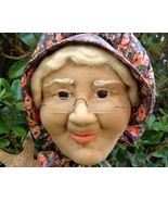 Vintage Old Woman Doll Sculpted Face Towel Hold... - $15.95
