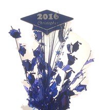 Personalized year & name Metallic blue Graduation Balloon Weight Centerp... - $16.82