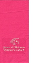 ROYAL FLUSH CARDS LOGO 50 Personalized printed DINNER HAND TOWEL FOLD na... - $13.85+