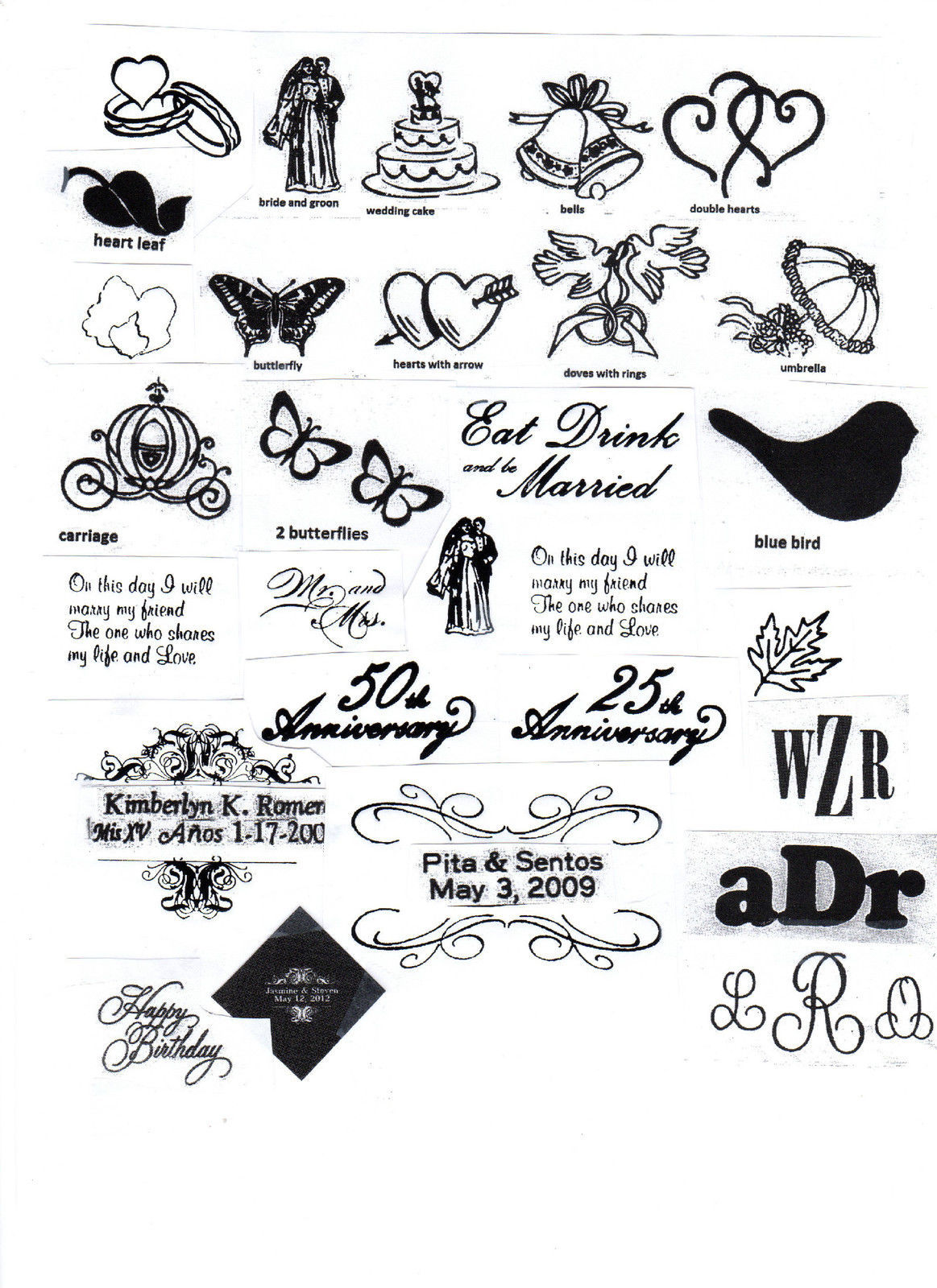 ROYAL FLUSH CARDS LOGO 50 Personalized printed DINNER HAND TOWEL FOLD napkins image 3