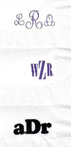 ROYAL FLUSH CARDS LOGO 50 Personalized printed DINNER HAND TOWEL FOLD napkins image 6